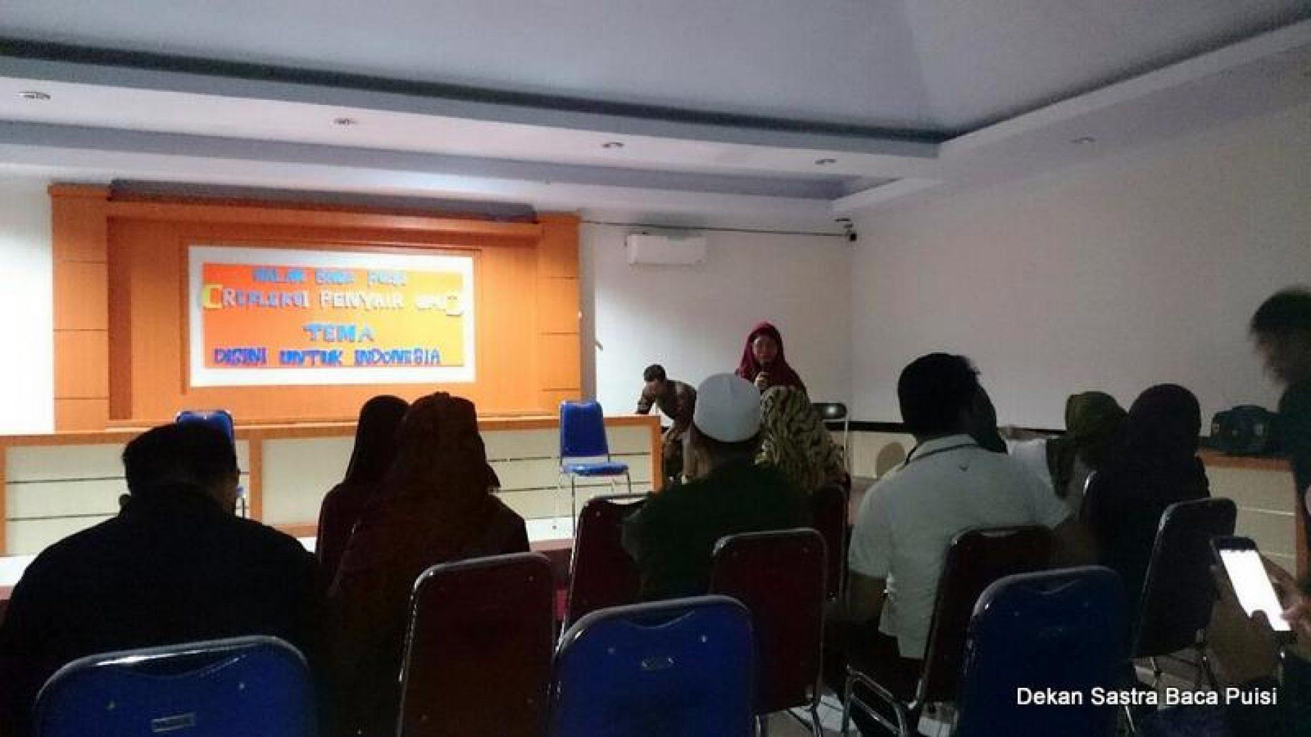 Jalin Silaturrahim, Alumni Sastra UMI Gelar Malam Baca Puisi